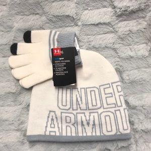 Under Armour Girl Hat & Glove Set